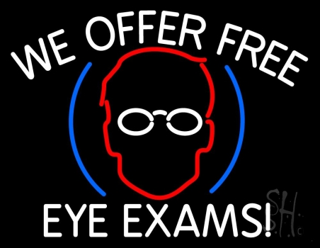 We Offer Free Eye Exams Neon Flex Sign