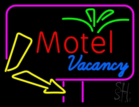 Funky Motel Vacancy Neon Flex Sign