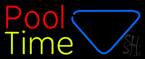 Double Stroke Pool Time With Billiard Neon Flex Sign