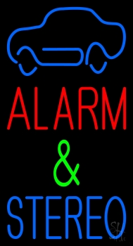 Alarm And Stereo Neon Flex Sign
