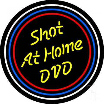 Yellow Shot At Home Dvd Neon Flex Sign