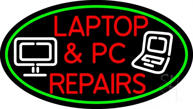 Laptop And Pc Repairs Border Neon Flex Sign