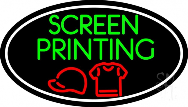 Screen Printing With Neon Flex Sign