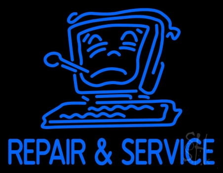 Computer Logo Repair And Service 2 Neon Flex Sign