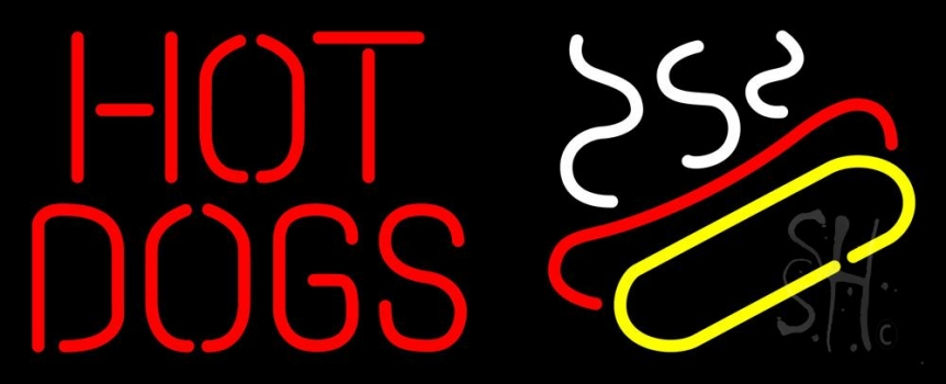 Red Hot Dogs Logo Neon Flex Sign