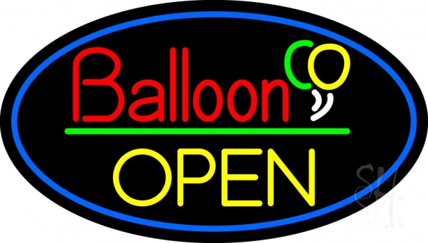 Block Open Balloon Neon Flex Sign