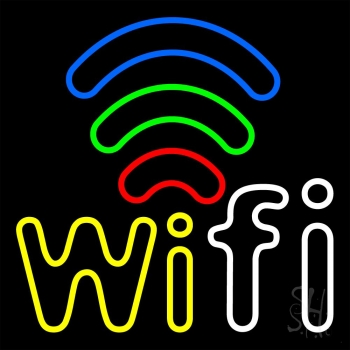 Wifi Free Block With Phone Number 2 Neon Flex Sign