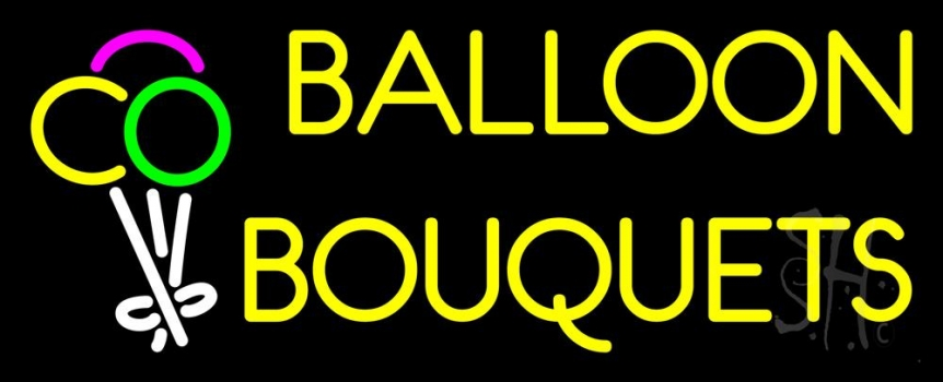 Yellow Balloon Bouquets Neon Flex Sign