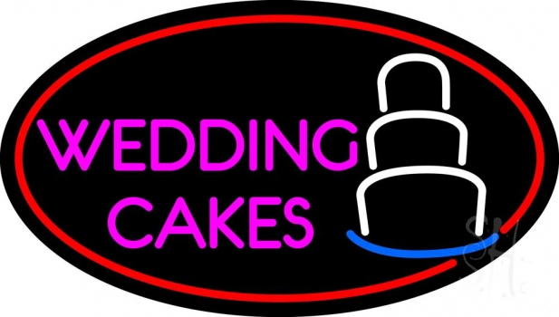 Pink Wedding Cakes Neon Flex Sign