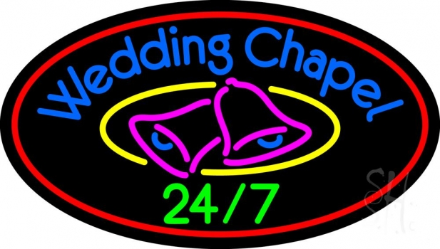 Wedding Chapel With Bell Neon Flex Sign