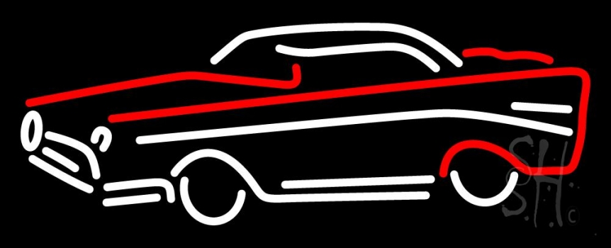 Red And White Car Logo Neon Flex Sign