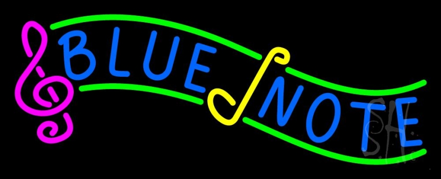Blue Note 2 Neon Flex Sign