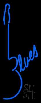 Blues Guitar 1 Neon Flex Sign