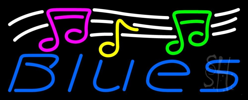Blues With Musical Note 1 Neon Flex Sign
