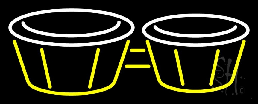 Bongos Drum 1 Neon Flex Sign