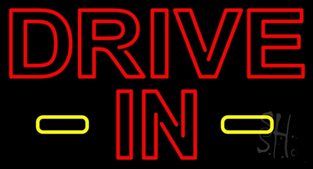 Drive In Red Neon Flex Sign