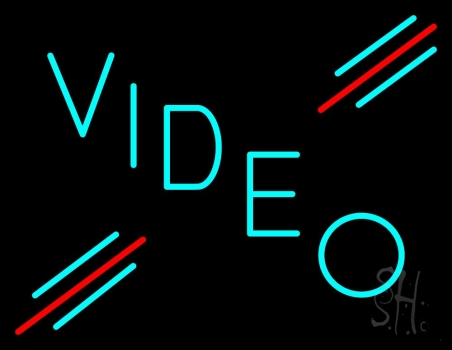 Turquoise Video Neon Flex Sign