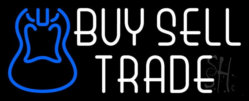 Buy Sell Trade Guitar 1 Neon Flex Sign