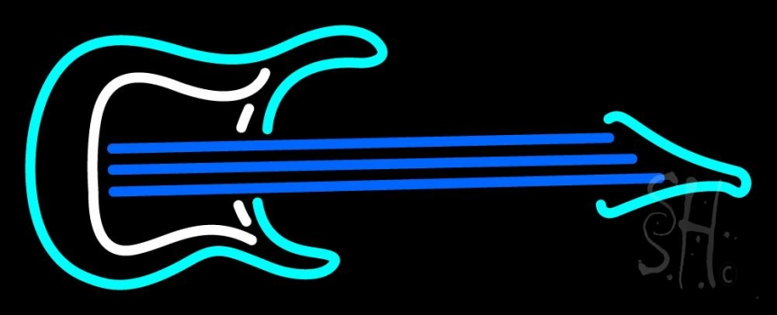 Guitar 1 Logo Neon Flex Sign