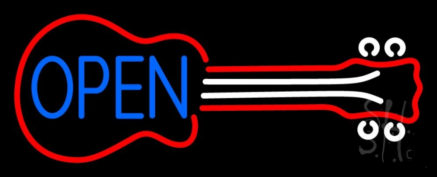 Guitar Open 3 Neon Flex Sign
