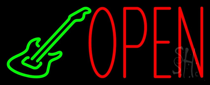 Guitar Open Block 3 Neon Flex Sign