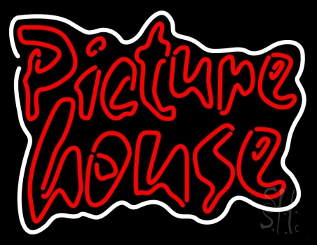 Red Picture House Neon Flex Sign