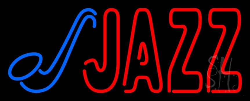 Blue Saxophone Red Jazz Block 2 Neon Flex Sign