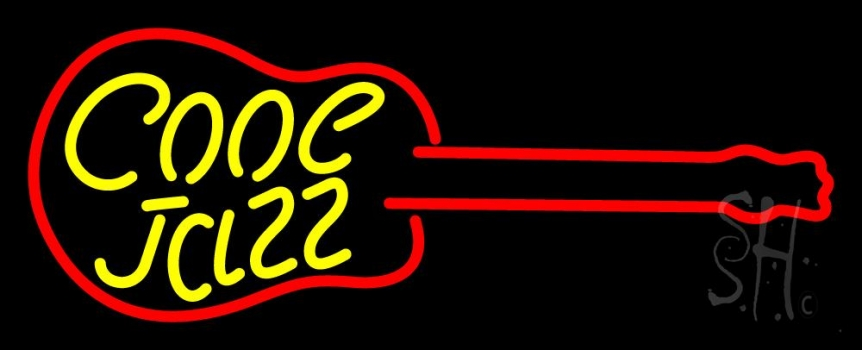 Cool Jazz Guitar 2 Neon Flex Sign