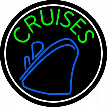 Green Cruises With White Border Neon Flex Sign