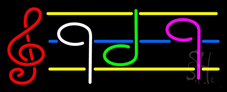 Musical Notes Neon Flex Sign