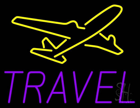 Purple Travel Neon Flex Sign