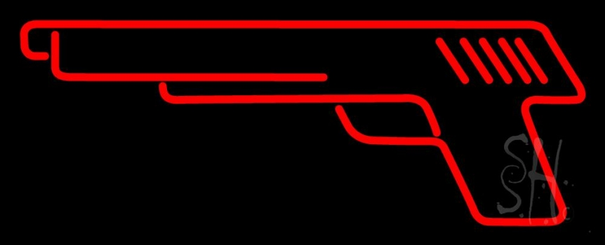 Red Gun Logo Neon Flex Sign