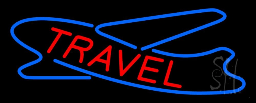 Red Travel With Logo Neon Flex Sign