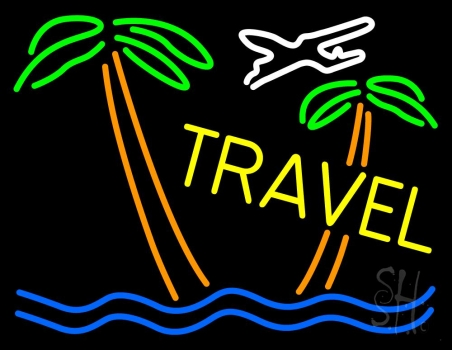 Travel Yellow Neon Flex Sign