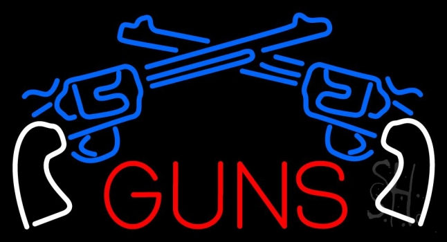 Two Gun Logo Neon Flex Sign