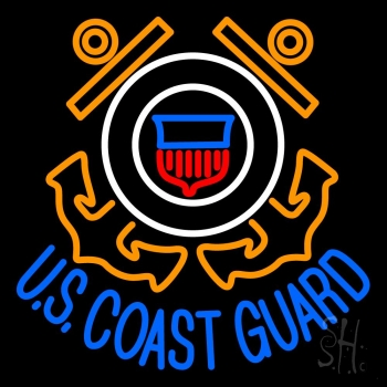 Us Coast Guard Logo Neon Flex Sign