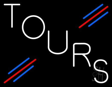 White Tours Neon Flex Sign