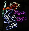 Rock And Roll Guitar Logo Neon Flex Sign