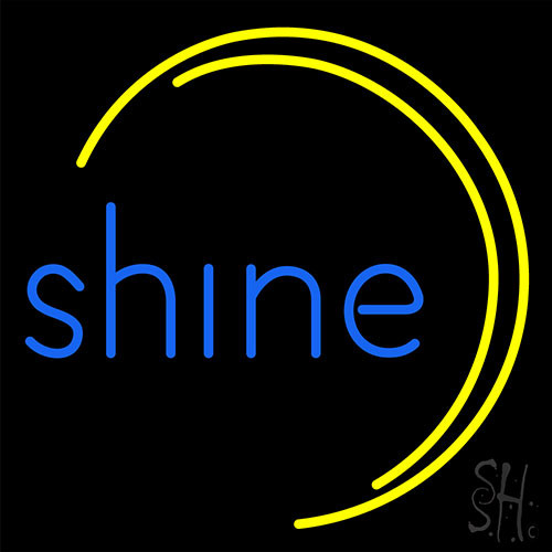 Blue Shine Neon Flex Sign