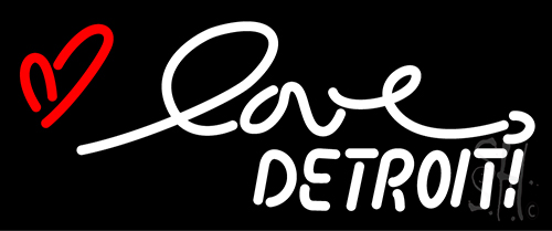 Love Detroit Neon Flex Sign