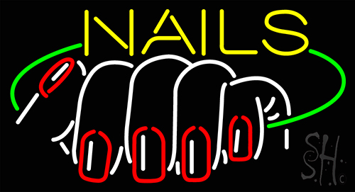 Nails Logo Neon Flex Sign
