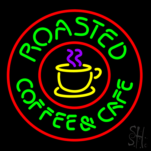 Roasted Coffee And Cafe Neon Flex Sign