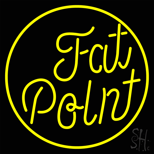 Yellow Fat Point Neon Flex Sign