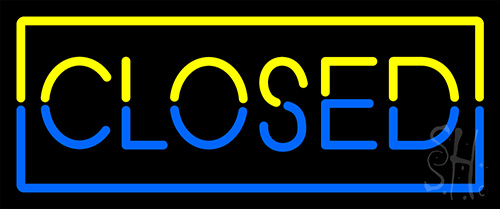 Closed Border Neon Flex Sign