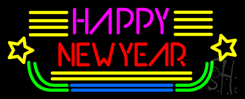 Happy New Year Logo 2 Neon Flex Sign