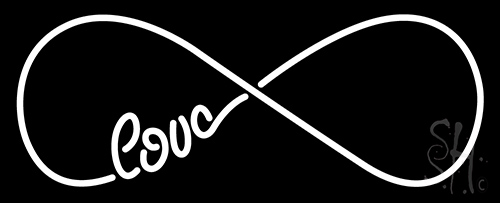 Love Infinity Neon Flex Sign