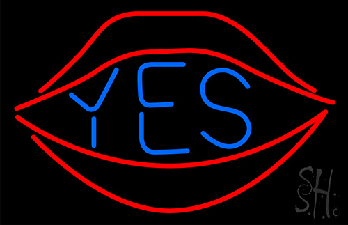 Yes With Red Lips Neon Flex Sign