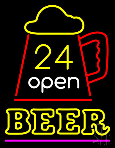 24 Open Beer Neon Flex Sign