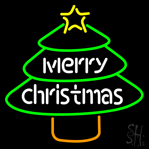Merry Christmas Tree Neon Flex Sign