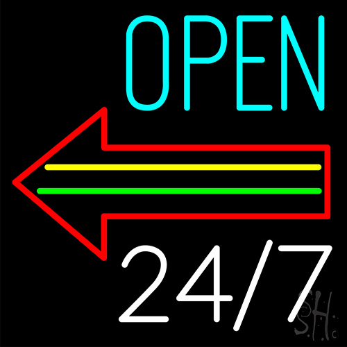 Open Arrow Neon Flex Sign